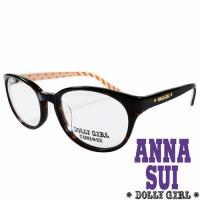 Anna Sui安娜蘇日本Dolly Girl系列光學眼鏡日系條紋愛心款‧琥珀+橙色【DG525-101】
