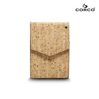 CORCO 簡約掛頸軟木皮夾 - 原棕色(含掛繩)