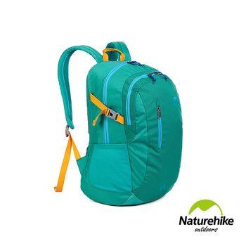 Naturehike 30L亮彩輕量耐磨機能登山後背包 孔雀綠