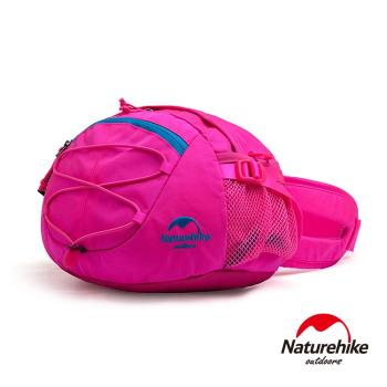 Naturehike 8L輕量耐磨CORDURA亮彩多功能腰包 肩背包 提包 桃紅