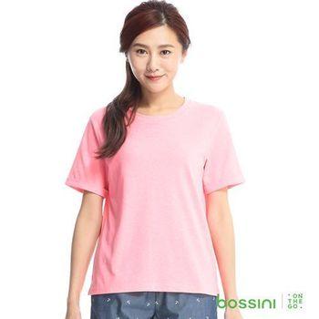 bossini女裝-素色寬版圓領T恤15玫瑰色