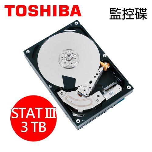 TOSHIBA東芝【AV影音監控】3TB 3.5吋 SATA III 內接硬碟(DT01ABA300V)