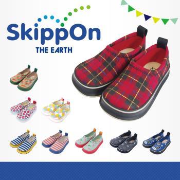【日本SkippOn】兒童休閒機能鞋〈百搭紅格紋〉
