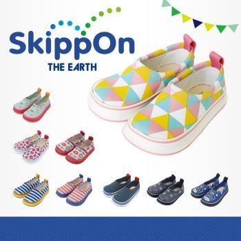 【日本SkippOn】兒童休閒機能鞋〈三角幾何〉