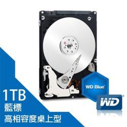WD藍標 桌上型 3.5吋 1TB SATA3 7200轉 內接硬碟機 (WD10EZEX)