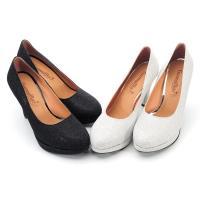 【 cher美鞋】MIT亮眼金蔥仙履奇緣高跟氣質美鞋-婚宴派對必備款-黑蔥/灰蔥-NPM-D