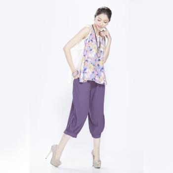 蘭陵純色顯瘦優雅寬褲組4入 106-03-41