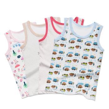 童裝嬰兒服寶寶無袖背心上衣 韓國原裝內衣睡衣-三件入