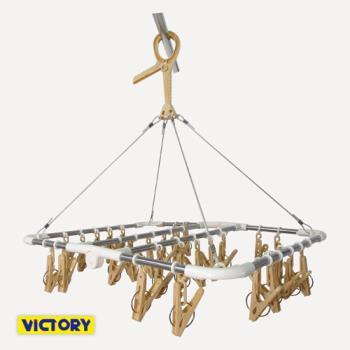 【VICTORY】28夾/不鏽鋼/防風掛勾/折疊式/360度/曬衣架