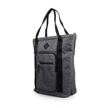 MIZUNO 2WAY  托特包-雙肩包 側背包 手提袋 美津濃 鐵灰黑