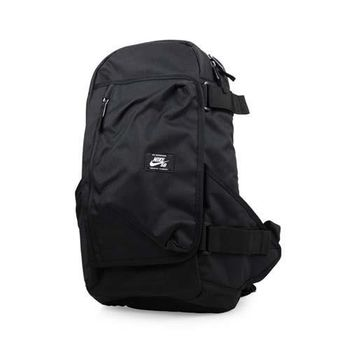 NIKE SB 滑板後背包-雙肩包 旅行包 運動背包 黑白