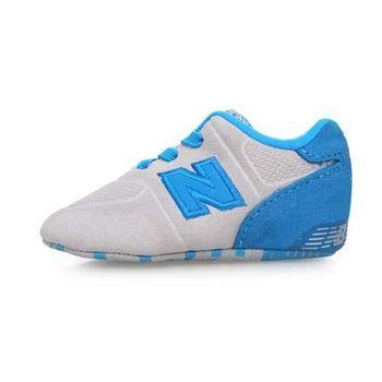 NEWBALANCE 574系列 男女嬰兒運動鞋-WIDE-NB N字鞋 童鞋 淺灰水藍