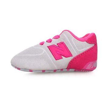 NEWBALANCE 574系列 男女嬰兒運動鞋-WIDE-NB N字鞋 童鞋 淺灰粉紅