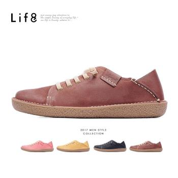 Life8-Casual 磨砂牛皮 2way後踩 懶人休閒鞋-09654-桃紅/棕色/黑色/咖色