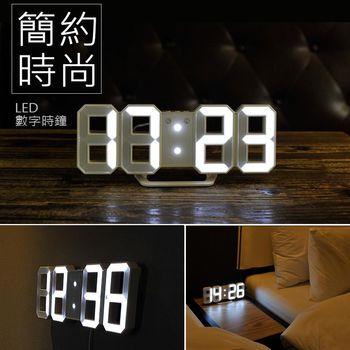 3D LED數字鐘 電子鬧鐘 牆面立體掛鐘 LED時鐘 數字立體電子鐘 USB插電 小款