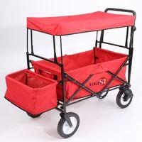 LOGIS-美式聖誕紅萬用家庭摺疊推車 嬰兒床 購物車 寵物車 LS168-RE