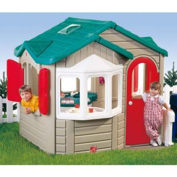 【華森葳兒童教玩具】戶外遊戲器材-Step2 童趣家園屋 A4-7503