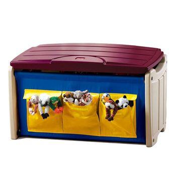 華森葳兒童教玩具功能家具與配件-Step2 實用玩具箱 A4-7558