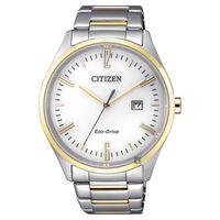 CITIZEN 星辰 Eco-Drive 光動能時尚手錶 白x金 42mm BM7354-85A
