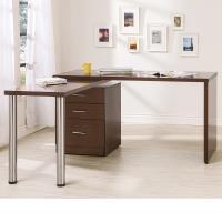 Bernice-凱希4.9尺多功能旋轉桌/工作桌/辦公桌(胡桃色)