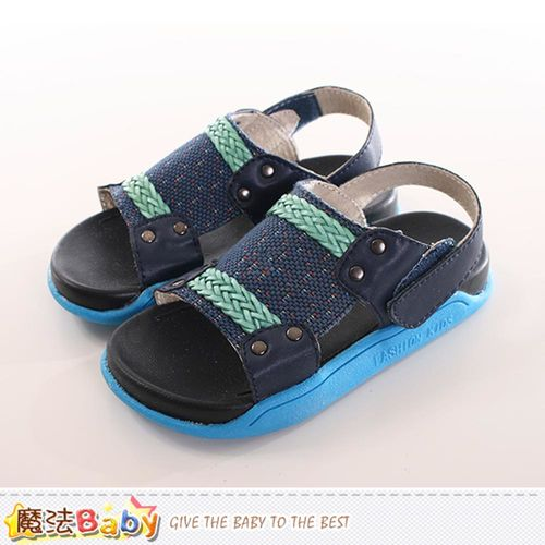 童鞋 時尚潮流休閒涼鞋 魔法Baby~sk0171