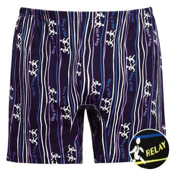 【DADADO】跑步 M-LL 印花平口褲(藍色)