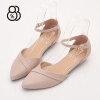 【88%】MIT台灣製復古金屬釦尖頭2.5CM低粗跟瑪莉珍鞋
