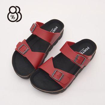 【88%】MIT台灣製美式休閒4CM厚底一字拖鞋