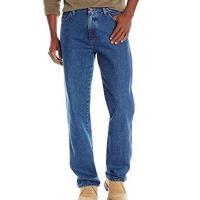 Wrangler 2017男時尚藍哥正宗經典石洗藍色牛仔褲(預購)