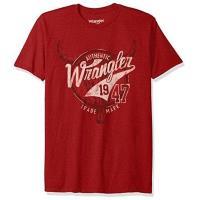 Wrangler 2017男時尚藍哥標誌款紅色圓領短袖ㄒ恤(預購)