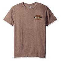Wrangler 2017男藍哥雙面印製標誌棕色圓領短袖ㄒ恤(預購)