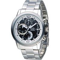 ALBA 特種精英逆跳計時男錶-白+黑(AS6035X1)