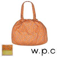 【w.p.c】時尚包包雨衣/束口防雨袋(橘底小花)