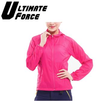 Ultimate Force「動力」女款速乾防曬外套-洋紅色