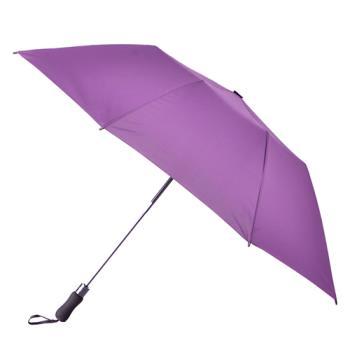【2mm】貝斯運動風 大傘面兩折自動傘(紫色)