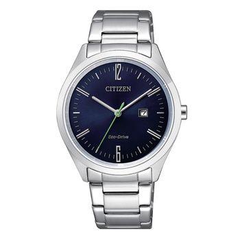 【CITIZEN星辰】PAIR系列低調簡約品味時尚光動能對錶/銀X藍-女35mm(EW2450-84L)
