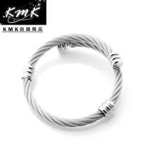 KMK鈦鍺精品【擁抱】鋼索繩紋-手環