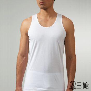 三槍牌 白色型男純棉背心 5件組