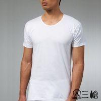 三槍牌 5件組白色時尚型男純棉短袖汗布衫HE616