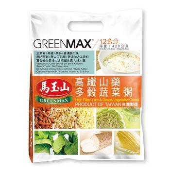 【馬玉山】高纖山藥多穀蔬菜粥(12入)