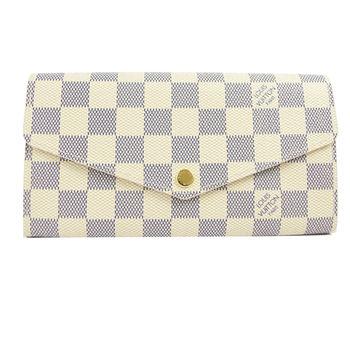 【LV】N63208 熱銷款發財包白棋盤格紋扣式長夾(預購)