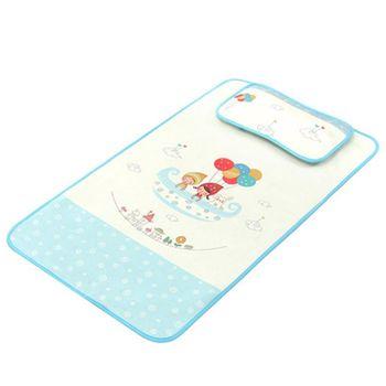 嬰兒床冰絲涼蓆 幼兒園兒童網眼透氣枕頭+床墊