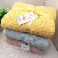 洞洞毯包巾 嬰兒被針織透氣蓋毯90*120CM