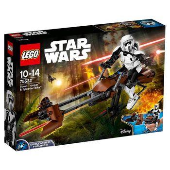 【 樂高積木 LEGO】STAR WARS 星際大戰系列 - 帝國偵查兵與反重力機車 LT75532