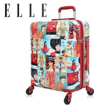【ELLE】70週年復古雜誌系列-純PC防盜/防爆拉鍊行李箱/旅行箱29吋 EL31181