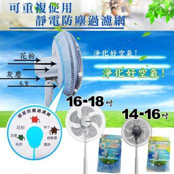 金德恩 台灣製 風扇靜電防塵過濾網 專利製造 加送 歡樂杯一個