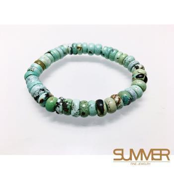 SUMMER寶石 天然綠松石手珠《14g 》(H6-12)