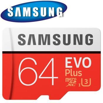 SAMSUNG 三星 64GB 64G 100MB/s EVO Plus microSDXC TF U3 記憶卡