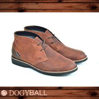 Dogyball Jones 輕量化皮感沙漠短靴 坦色