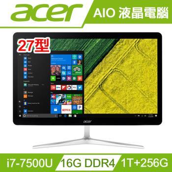 acer宏碁桌電 27型AIO七代i7雙碟雙核WIN10液晶電腦 U27-880